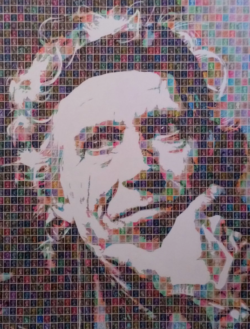 """Keith Richards"" - Pop Art Collage von Gary Hogben"