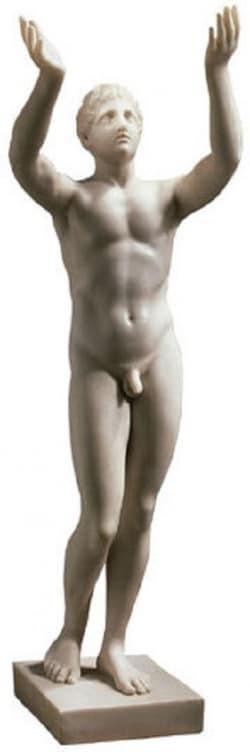 """Statue """"Betender Ephebe"""" aus Kunstmarmor von Leochares (Reduktion)"""
