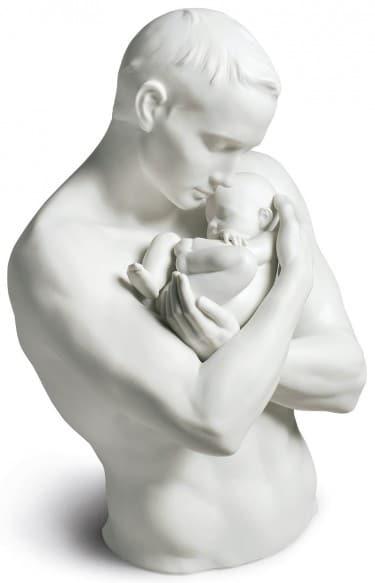 """Porzellanskulptur """"Väterlicher Stolz"""" von Lladró"""