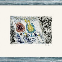 """Les Fruits pour Malabon"" (1992) von Louttre B. - Limitierte Farbradierung auf Bütten"