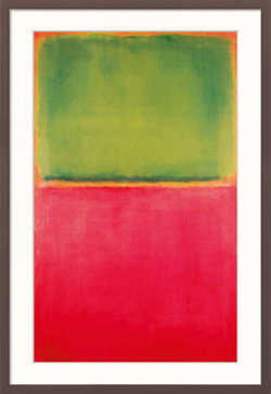 "Reproduktion des Gemäldes ""Green Red on Orange"" von Mark Rothko im Rahmen"