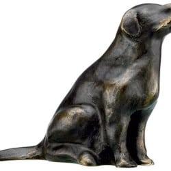 """Bronze-Skulptur """"Retriever"""" von Mechtild Born (2012)"""