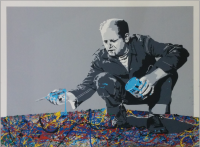 """Jackson Pollock"" Original von Mr. Brainwash"