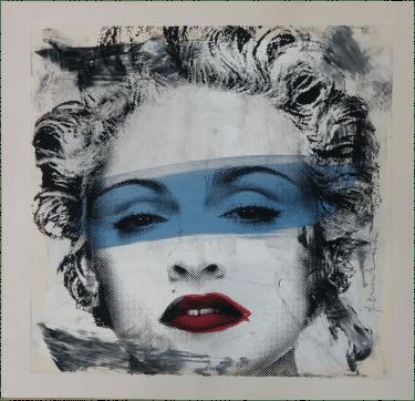 """""""Madonna"""" Handsignierter Siebdruck von Mr. Brainwash"""