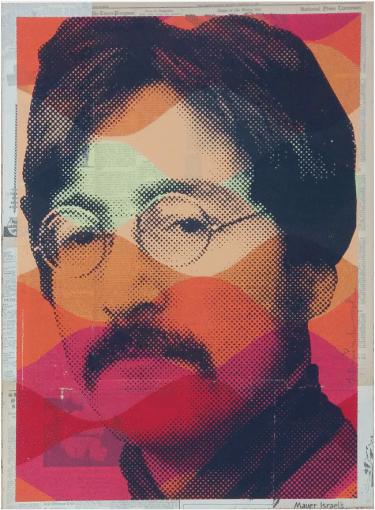"""""""Vintage Lennon"""" Handsignierter Siebdruck von Mr. Brainwash"""