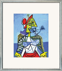"""Reproduktion des Bildes """"Frau mit Vogel"""" von Pablo Picasso"""