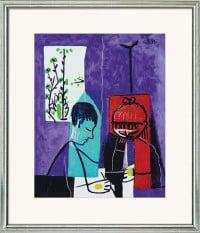 """Reproduktion des Bildes """"Zeichnende Kinder"""" von Pablo Picasso"""
