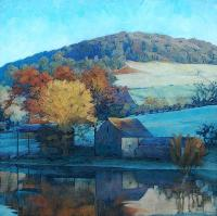 """River Barn"" Limited Edition Kunstdruck von Paul Burgess"