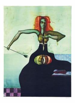 """""""Die Köchin"""" - Limitierte Farblithografie von Paul Wunderlich"""