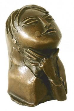 """Bronzeskulptur """"Asiatin"""" von Paul Wunderlich"""