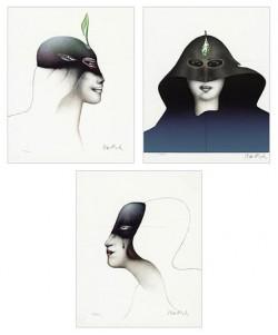 """Bildfolge """"Têtes des Femmes"""" von Paul Wunderlich"""