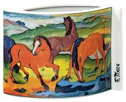 """Porzellanvase """"Weidende Pferde"""" (1911), Motiv von Franz Marc"""