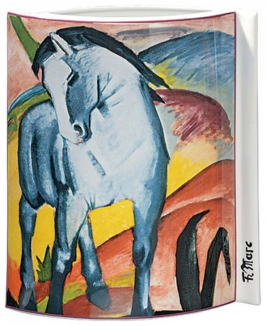 porzellanvase blaues pferd 1911 motiv von franz marc hannover porzellanmalerei. Black Bedroom Furniture Sets. Home Design Ideas