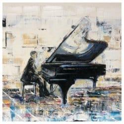 """""""The Piano"""" - Acrylgemälde von Rachel Keens"""