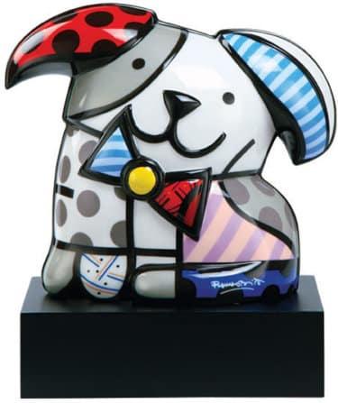 """Handbemalte Porzellanskulptur """"Hund Ginger"""" von Romero Britto"""