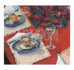 """""""Red Dining"""" - Limitierter Giclée-Druck von Valerie Johnson"""
