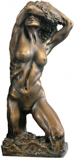 """Bronzeskulptur """"Eva 2000"""" (1995) von Wolfgang Grimm"""